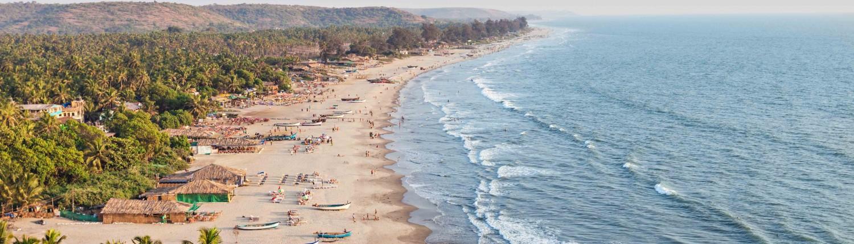 Beauty Arambol beach landscape, Goa state, India